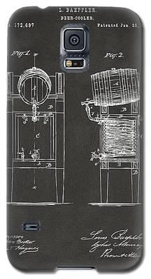 1876 Beer Keg Cooler Patent Artwork - Gray Galaxy S5 Case