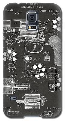 1881 Colt Revolving Fire Arm Patent Artwork - Gray Galaxy S5 Case