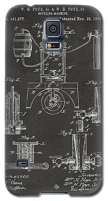 1890 Bottling Machine Patent Artwork Gray Galaxy S5 Case