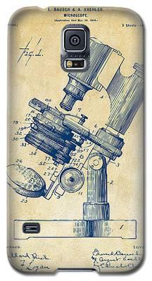 1899 Microscope Patent Vintage Galaxy S5 Case