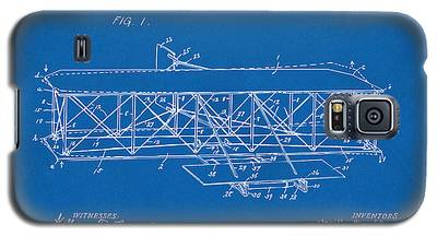 1906 Wright Brothers Flying Machine Patent Blueprint Galaxy S5 Case