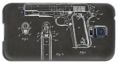 1911 Browning Firearm Patent Artwork - Gray Galaxy S5 Case