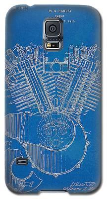 1923 Harley Davidson Engine Patent Artwork - Blueprint Galaxy S5 Case