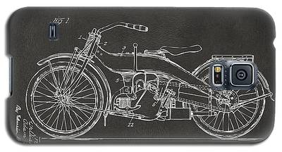 1924 Harley Motorcycle Patent Artwork - Gray Galaxy S5 Case