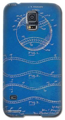 1928 Baseball Patent Artwork - Blueprint Galaxy S5 Case
