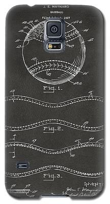 1928 Baseball Patent Artwork - Gray Galaxy S5 Case