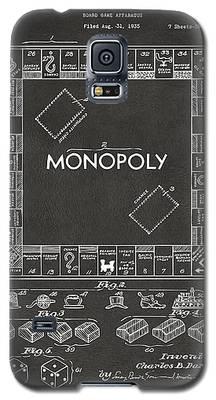 1935 Monopoly Game Board Patent Artwork - Gray Galaxy S5 Case