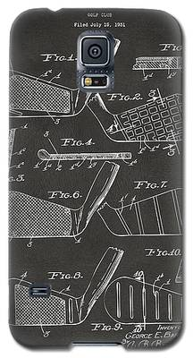 1936 Golf Club Patent Artwork - Gray Galaxy S5 Case