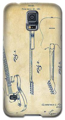 1951 Fender Electric Guitar Patent Artwork - Vintage Galaxy S5 Case