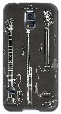 1953 Fender Bass Guitar Patent Artwork - Gray Galaxy S5 Case