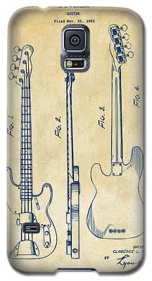 1953 Fender Bass Guitar Patent Artwork - Vintage Galaxy S5 Case