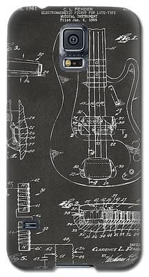 1961 Fender Guitar Patent Artwork - Gray Galaxy S5 Case