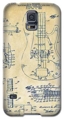 1961 Fender Guitar Patent Artwork - Vintage Galaxy S5 Case