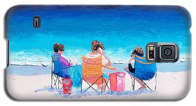 Beach Painting 'girl Friends' By Jan Matson Galaxy S5 Case