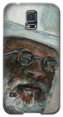 Gray Beard Under White Hat Galaxy S5 Case