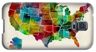 United States Watercolor Map Galaxy S5 Case