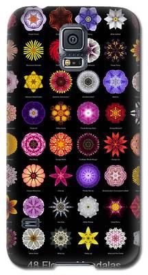48 Flower Mandalas Galaxy S5 Case