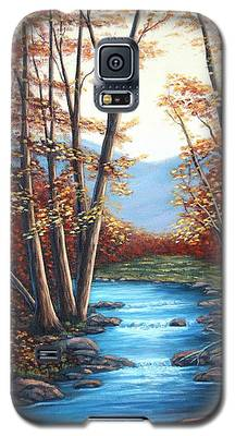 Autumn Mountain Stream  Galaxy S5 Case