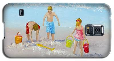 Beach Painting - Sandcastles Galaxy S5 Case