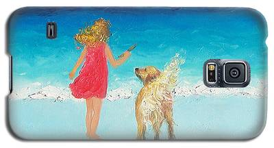 Beach Painting 'sunkissed Hair'  Galaxy S5 Case