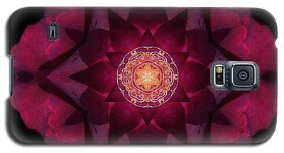 Beach Rose I Flower Mandala Galaxy S5 Case
