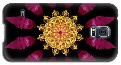 Beach Rose Iv Flower Mandala Galaxy S5 Case