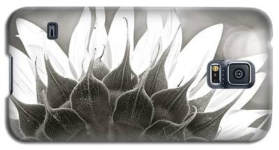 Black And White Sunflower Galaxy S5 Case