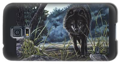 Black Wolf Hunting Galaxy S5 Case