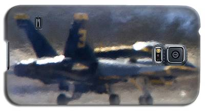 Blue Angels Number 3 On The Runway Galaxy S5 Case