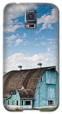 Blue Barn In The Stillaguamish Valley Galaxy S5 Case