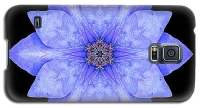 Blue Clematis Flower Mandala Galaxy S5 Case