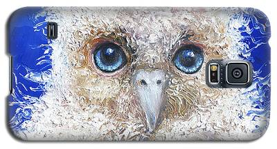 Blue Eyed Owl Painting Galaxy S5 Case