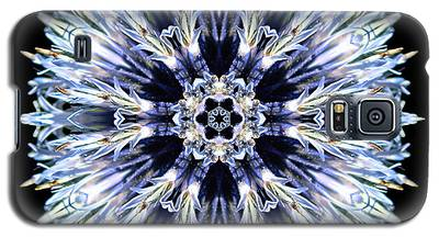 Blue Globe Thistle Flower Mandala Galaxy S5 Case