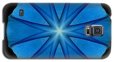 Blue Morning Glory Flower Mandala Galaxy S5 Case