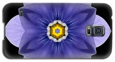Blue Pansy I Flower Mandala Galaxy S5 Case