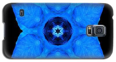 Blue Pansy II Flower Mandala Galaxy S5 Case