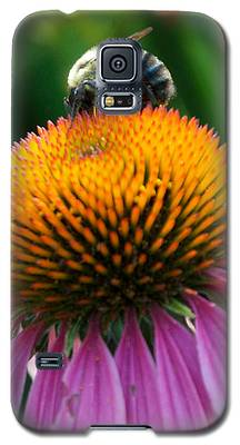 Blue Striped Bee Galaxy S5 Case