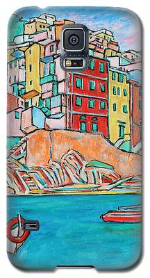 Boats In Front Of The Buildings X Galaxy S5 Case