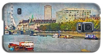 Boats On The River Thames And The London Eye Galaxy S5 Case