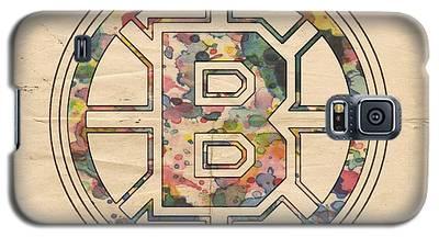 Boston Bruins Poster Art Galaxy S5 Case