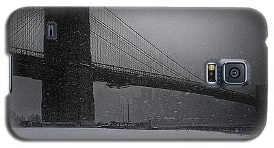 Brooklyn Bridge Blizzard Galaxy S5 Case