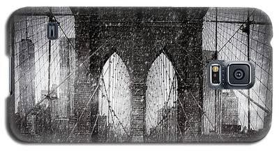 Brooklyn Bridge Snow Day Galaxy S5 Case