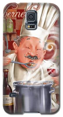 Busy Chef With Cabernet Galaxy S5 Case