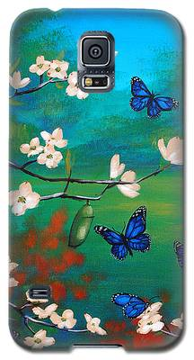 Butterfly Blue Galaxy S5 Case