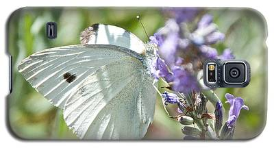 Cabbage White On Lavender  Galaxy S5 Case