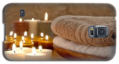 Candles And Towels In A Spa Galaxy S5 Case