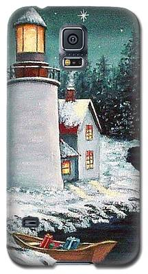 Christmas At The Light Galaxy S5 Case
