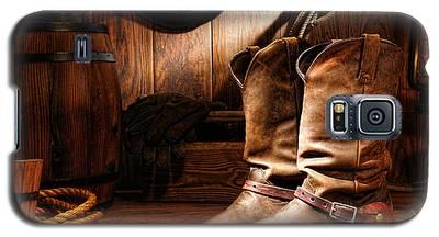 Cowboy Boots In A Ranch Barn Galaxy S5 Case