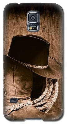 Cowboy Hat And Boots Galaxy S5 Case