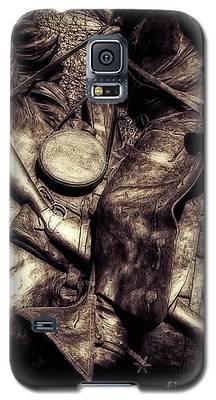 Cowboy In Bronze Galaxy S5 Case